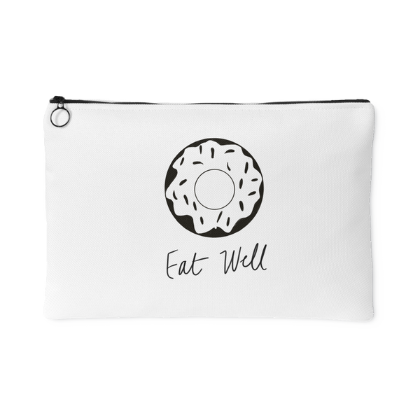 """Eat Well"" Accessory Pouch (Black)"