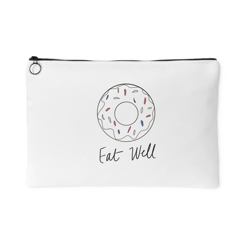 """Eat Well"" Accessory Pouch (color)"