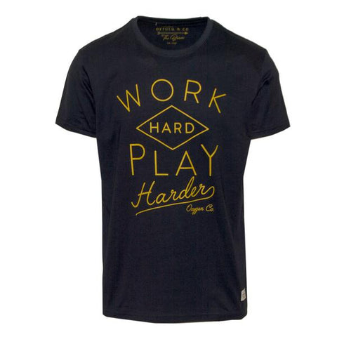 "Ανδρικό T-Shirt ""Work Play"" Oxygen - eguana.gr"