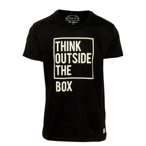 "Ανδρικό T-Shirt ""The Box"" Oxygen - eguana.gr"