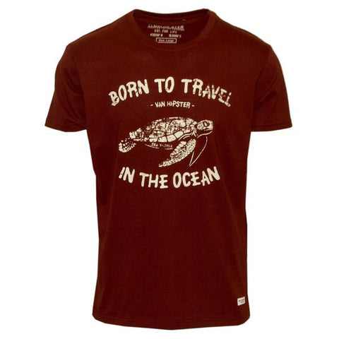 "Ανδρικό T-Shirt ""Born To Travel"" Van Hipster - eguana.gr"