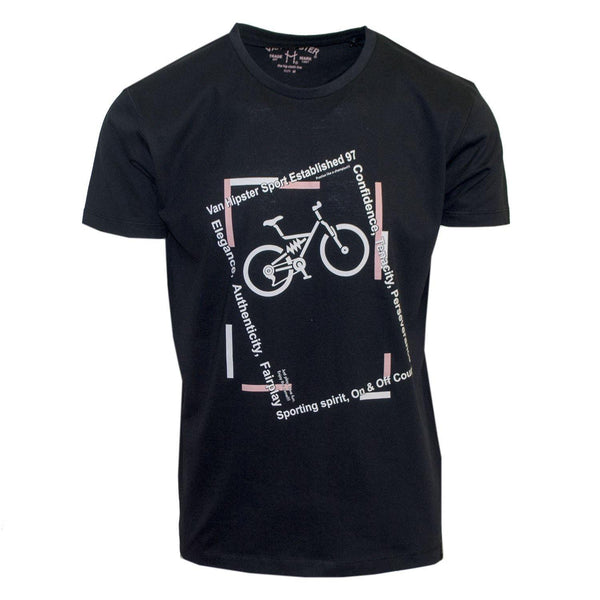 "Ανδρικό T-Shirt ""Happy Bike"" Van Hipster-eguana.gr"