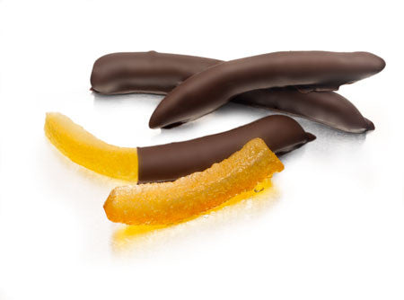 Orangettes with Crystallized Sugar and Dark Chocolate  1/4 LB