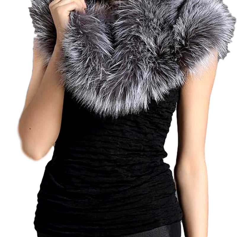 Genuine Fox Fur Elegant Shawl - Knot Bene