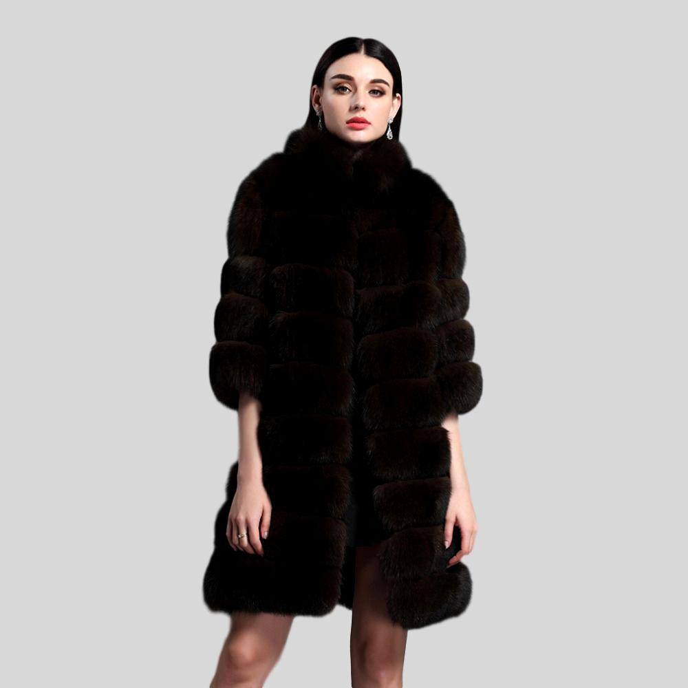 Long Genuine Fox Fur Coat - Knot Bene