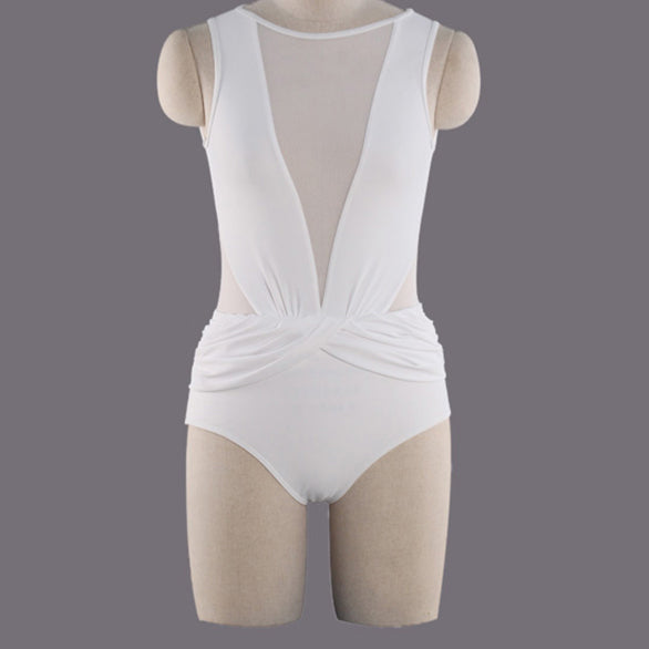 High Neck One-Piece High Waist Swimsuit - Knot Bene