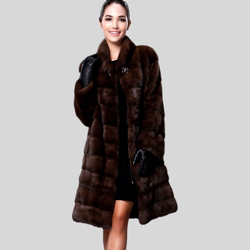 Mink Fur Multi-Color Long Jacket - Knot Bene