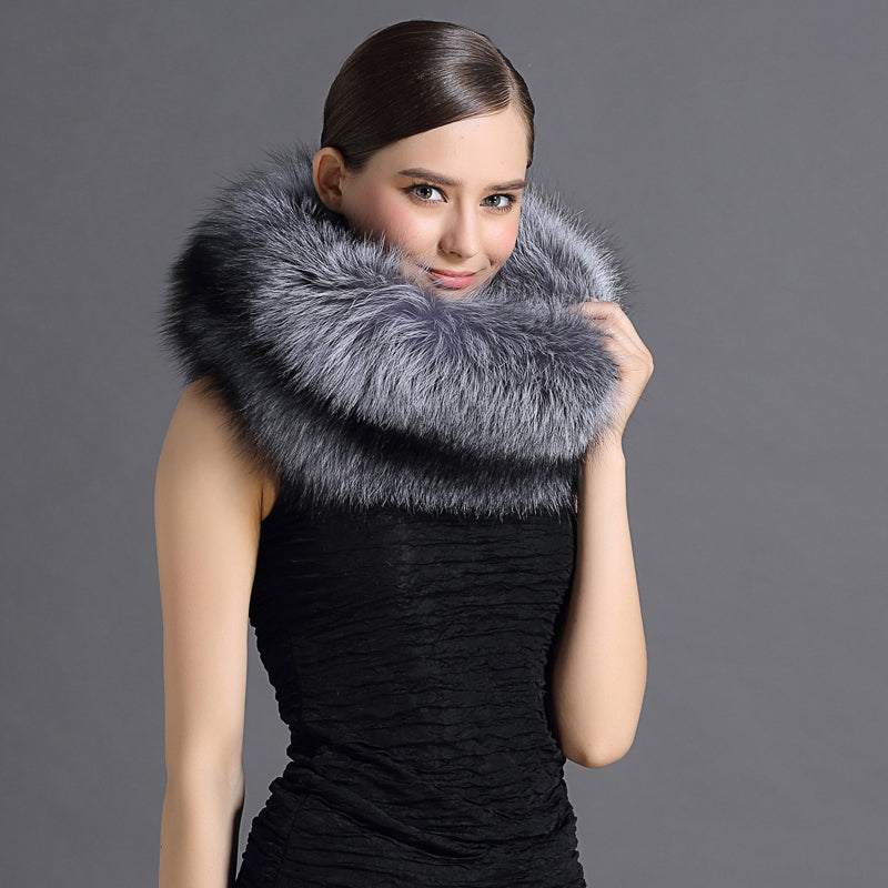 Natural Fox Fur Neck Scarf - Knot Bene