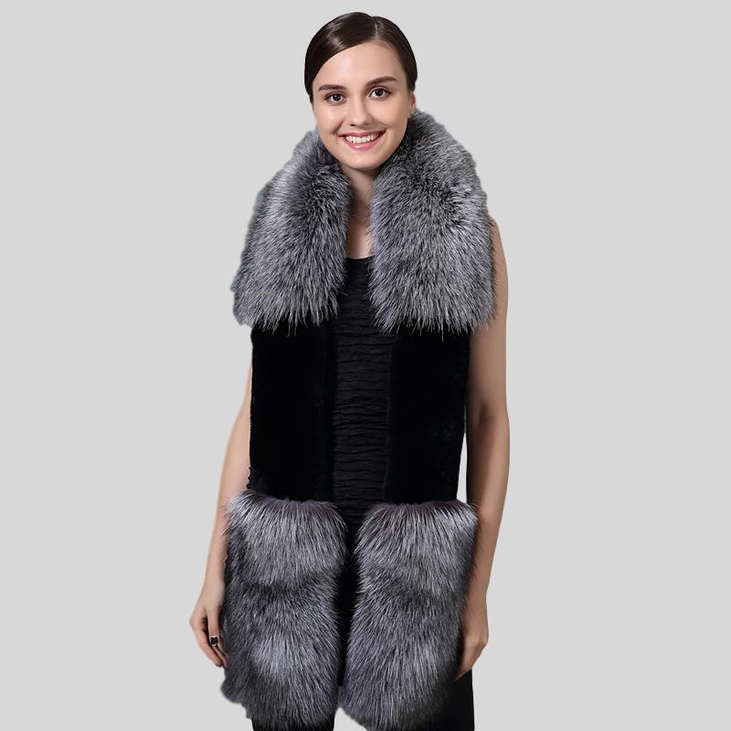 Fox Fur & Rex Rabbit Fur Patchwork Scarves - Knot Bene