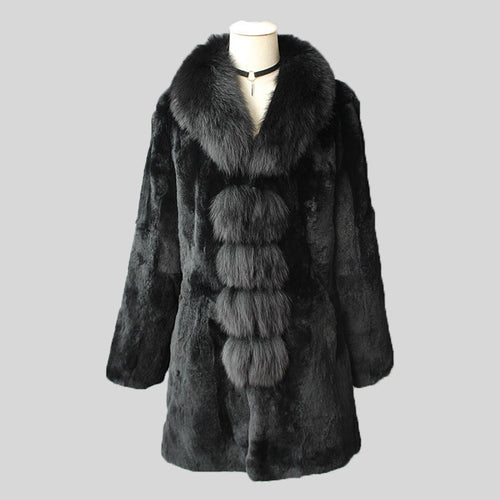 Rabbit  Fur Long Sleeve Jacket
