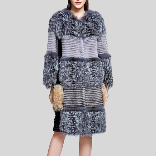 New Square Style Genuine Mink Fur Coat