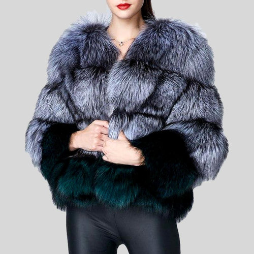 Real Fox Fur Thick Coat