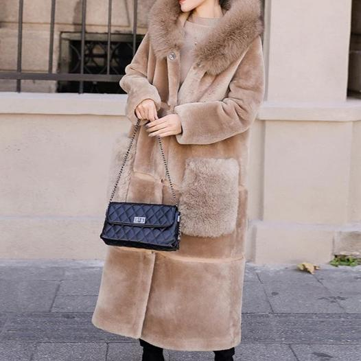 Genuine Fur Double Side Wear genuine leather Coat