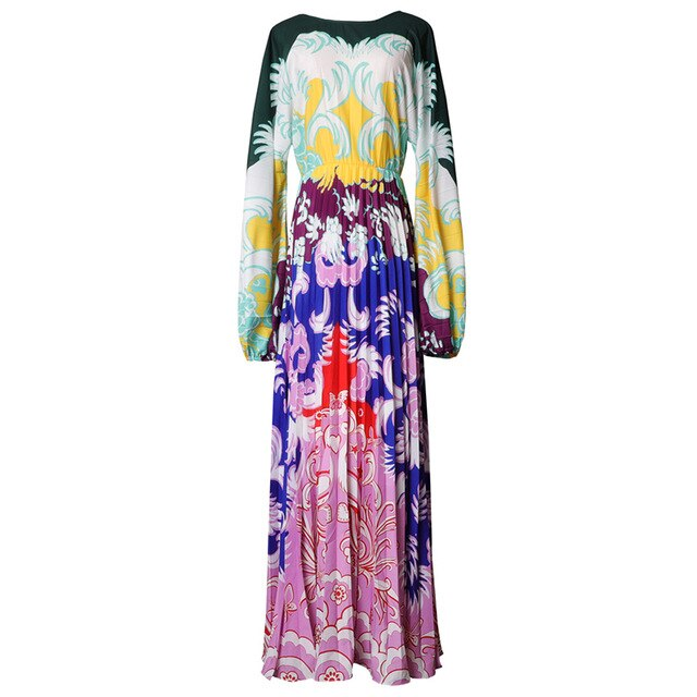 Boho Chic Elegant Plus Size Open Back Lantern Long Sleeve Dress