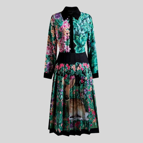 Vintage Royal Embroidery Windbreaker  Dress