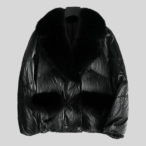 Genuine Fox  Fur Collar  Parka Down Jacket