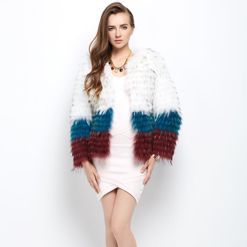 Genuine  Raccoon Fur Jacket - Knot Bene