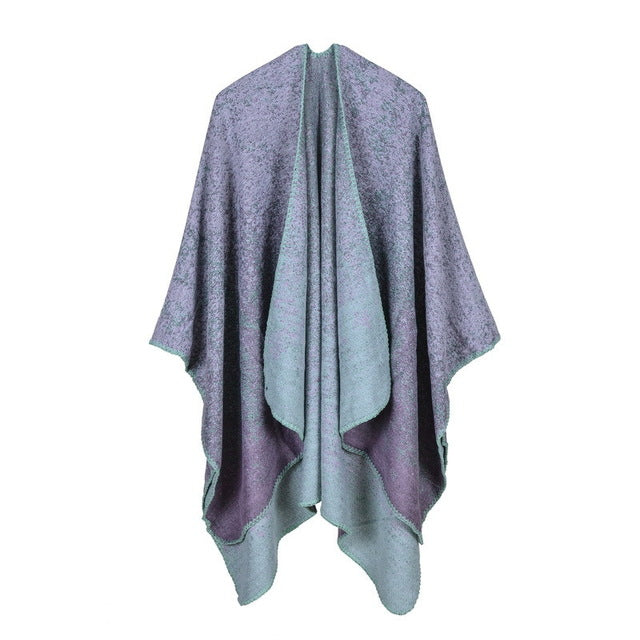 Knitting Long Poncho - Knot Bene