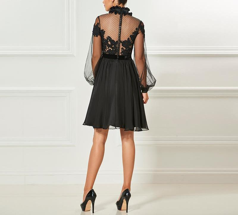 High Neck Elegant Cocktail Dress - Knot Bene