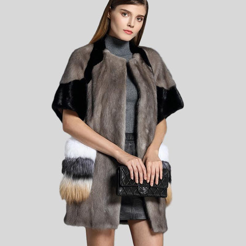 Genuine Mink Fur Long Style Jacket - Knot Bene