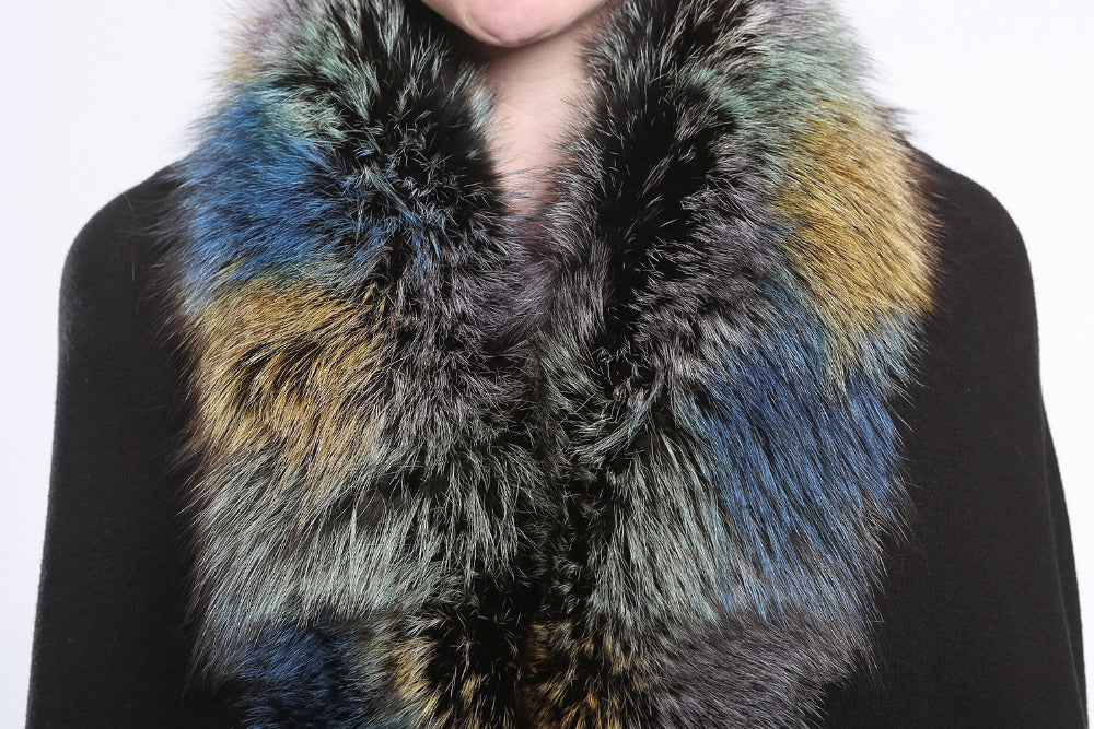Colorful Fox Fur Scarf - Knot Bene