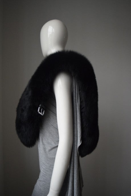 Large Luxurious Genuine Fox Fur Scarf - Knot Bene