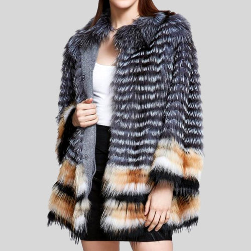 Genuine Fox Fur  Overcoat