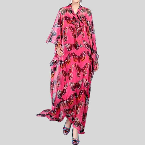 Boho Maxi Batwing Sleeve Loose Butterfly Long Dress