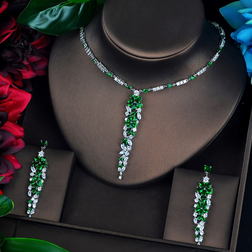 Sparkling  Full Cubic Zircon Jewelry Set