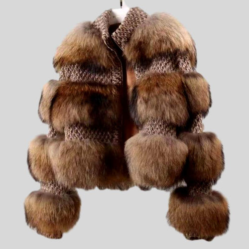 Raccoon Natural Fur Coat
