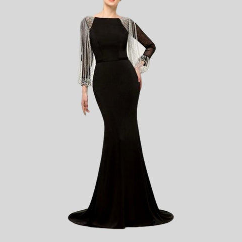 Sleeveless One-Shoulder Embroidery  Luxury Formal Evening Dress