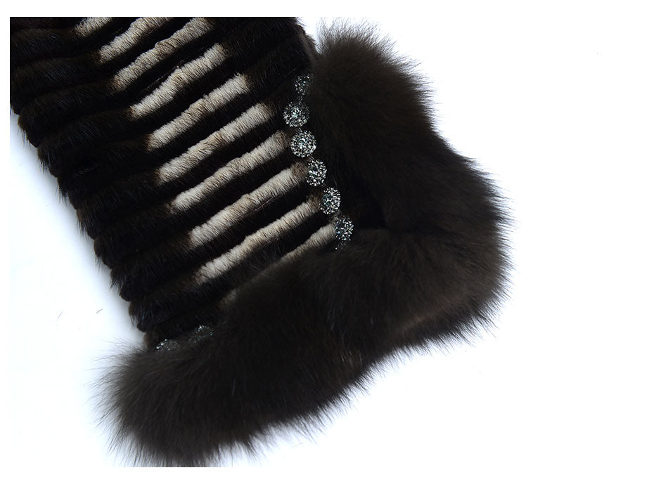 Knitted Mink Fur Coats