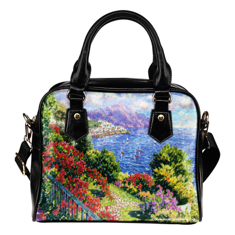 Diane Monet - View From Hotel Santa Cataune - Shoulder Handbag