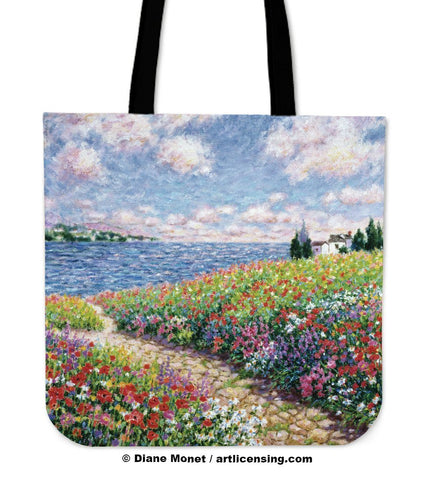 Diane Monet Path to The Beach tote bag