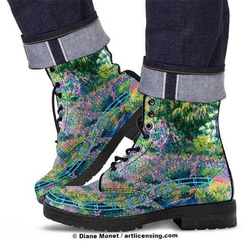 Diane Monet - Calm Afternoon - Leather Boots Style 3: Continuous bridge with flower toe  [PP4CL2SS]