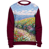 Diane Monet - Path To The Beah - All Over Print Sweatshirt - Maroon