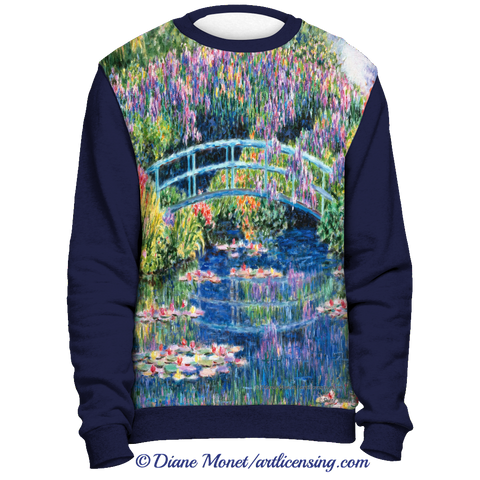 "Navy Full Print Sweatshirt  ""Calm Afternoon"" - Diane Monet [TL3CF8SS]"