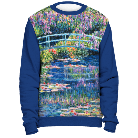 Diane Monet - Calm Afternoon - All Over Print Sweatshirt - Royal Blue
