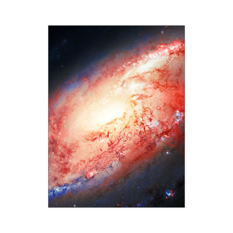 Nasa-Hubble: Galaxy M 106  poster