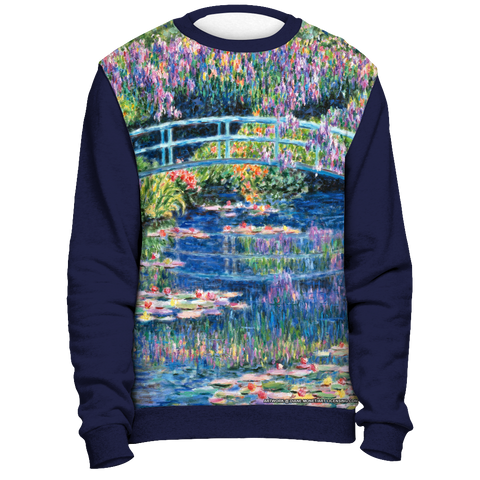 Diane Monet - Calm Afternoon - All Over Print Sweatshirt - Navy Blue