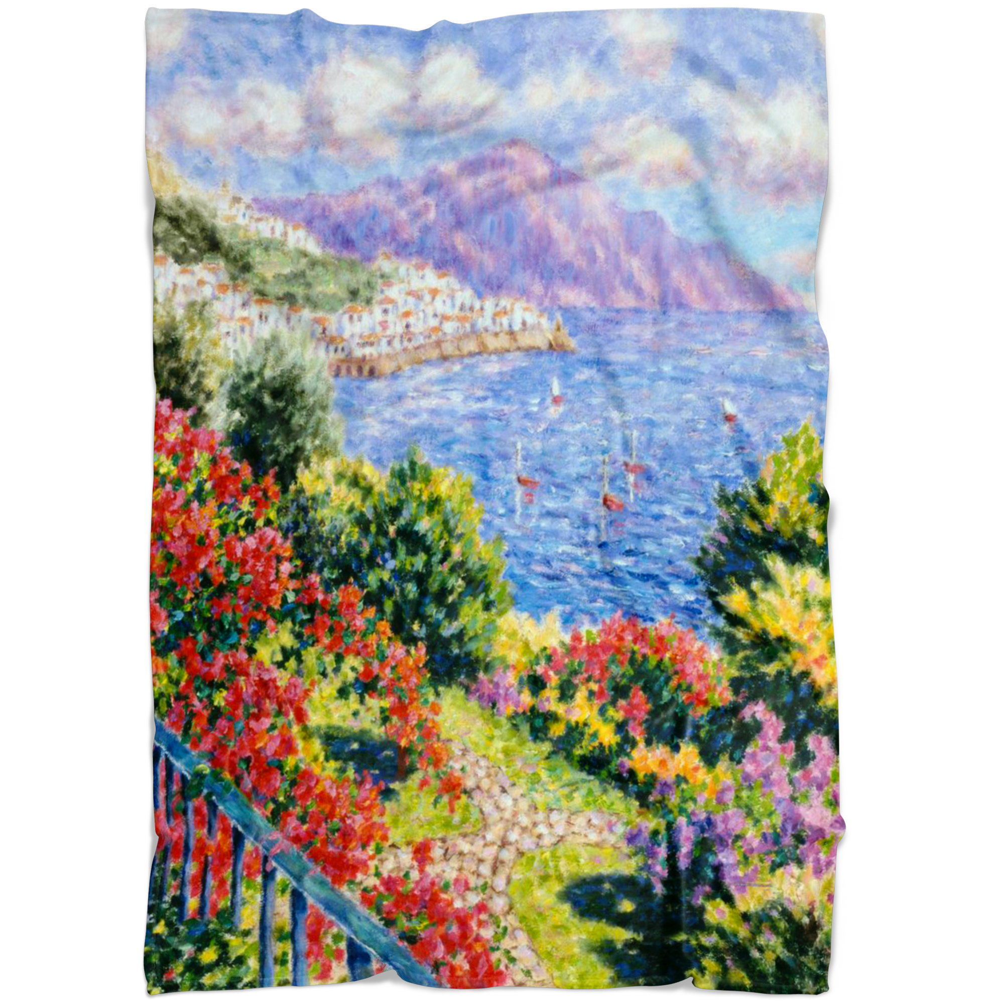 Diane Monet - View From Hotel Santa Cataune - Blanket P V1