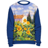 Diane Monet - Enchante - All Over Print Sweatshirt - Royal Blue