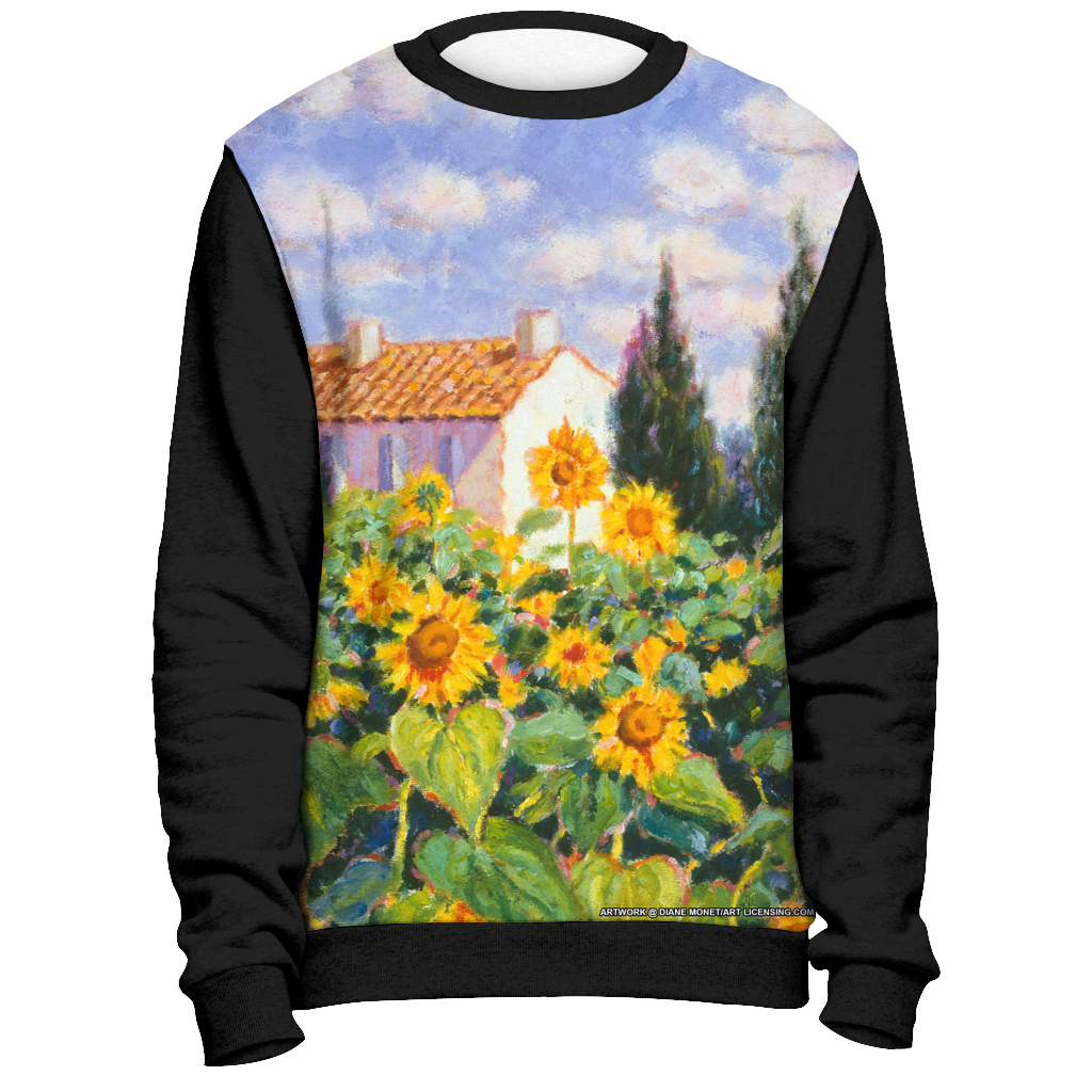 Diane Monet - Enchante - All Over Print Sweatshirt - Black