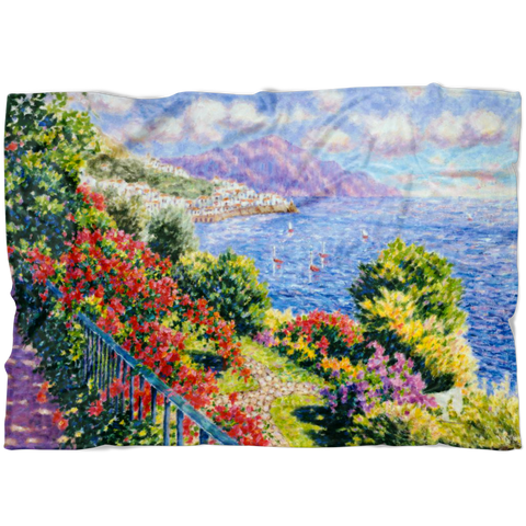 Diane Monet - View From Hotel Santa Cataune - Blanket L V1