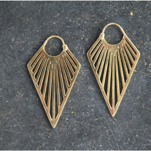 Gold Toned Hoops Aztec