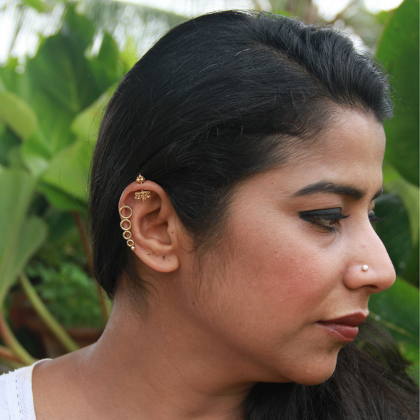 EarCuffs Circles with Silver Back