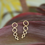 Gold Toned EarCuffs Circles