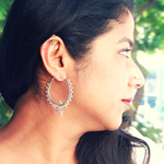 Silver Toned Hoops dotted