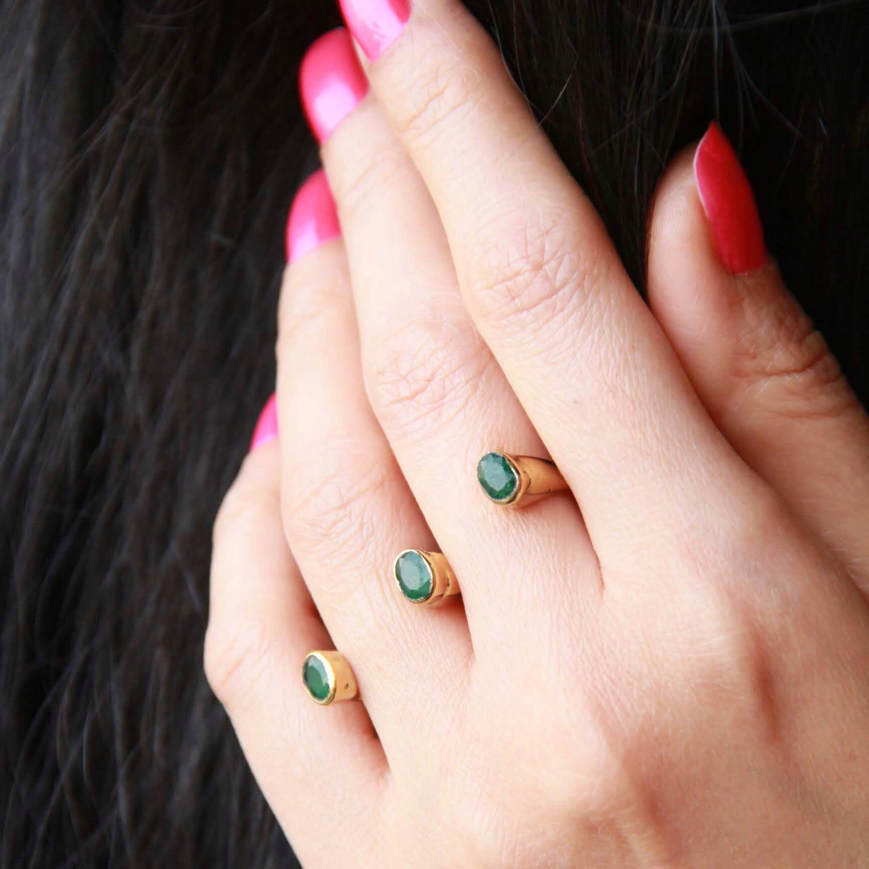 2 Finger Stone Ring