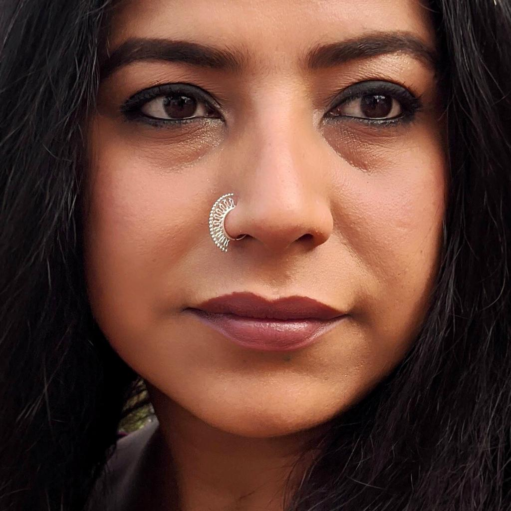 Zig Zag Silver Nose Ring